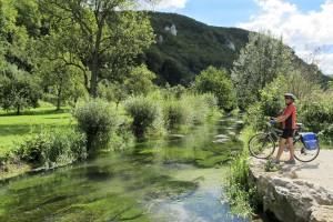 Radfahren, Schw. Alb, bei Bad Urach